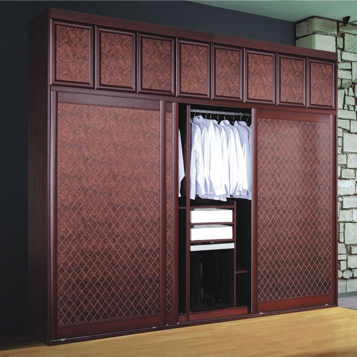Excellent Modern Badroom Sliding Door Wooden Clothes Almirah Designs With Wood Almari Dedizn Pic