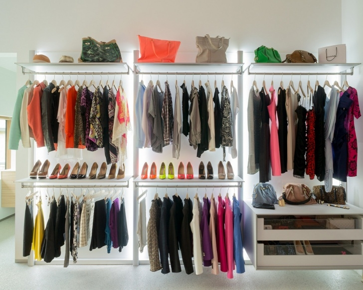 Excellent Walk In Closets And Open Wardrobe Systems Custom-Made Open Closet Systems Photo