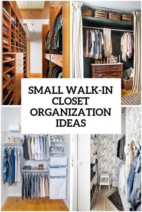 Fantastic 5 Small Walk-In Closet Organization Tips And 40 Ideas - Digsdigs Very Small Walk In Closet Photo