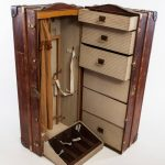 Fantastic Antique Leather Wardrobe Steamer Trunk For Sale At 1Stdibs Antique Wardrobe Trunk Pics