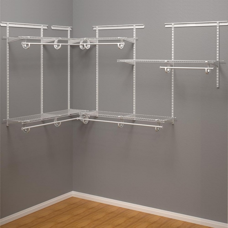 Fascinating Closetmaid Shelftrack 12 In. D X 72 In. W X 84 In. H White Wire Closet Systems For Wall Picture