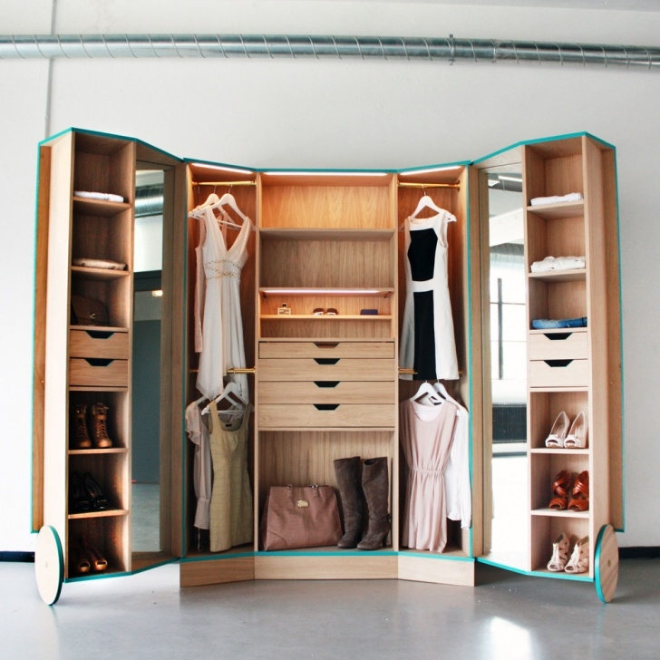 Fascinating Portable Walk-In Closets & 14 Other Ways To Make A Studio Feel Like Simple Small Movable Wardrobe Design Picture