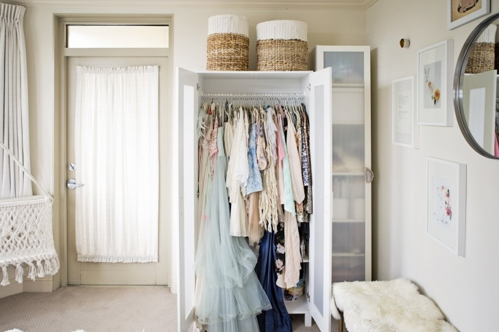 Gorgeous How To Create A Closet In A Small Space | Apartment Therapy Small Room Wardrobe Images Photo