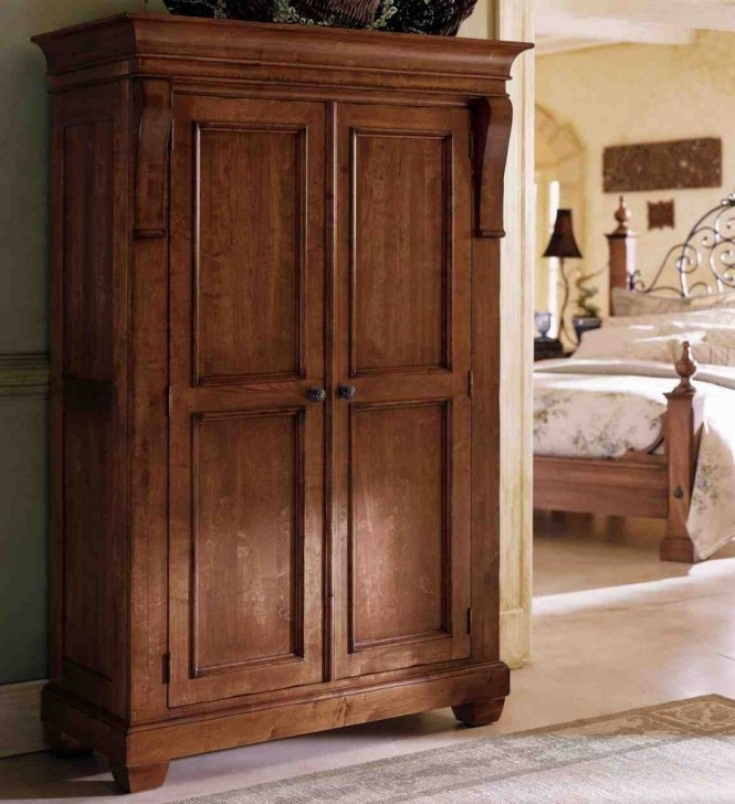 Gorgeous Large Clothing Armoire | Armoire | Antique Wardrobe, Wooden Wardrobe Clothing Wardrobes Furniture Image
