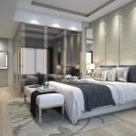 Gorgeous Luxury Modern Bedroom Suite In Hotel With Wardrobe 3D Model Max Bip Bedroom Wardrobe 3D Picture