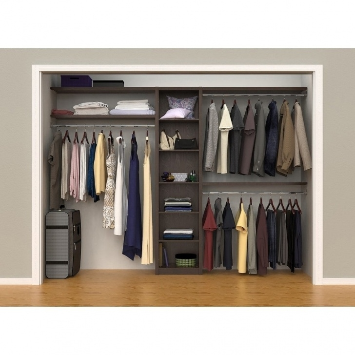 "Gorgeous Shop Closetmaid Spacecreations 44"" - 115"" Closet Organizer Kit Closet Shelves And Accessories Pics"