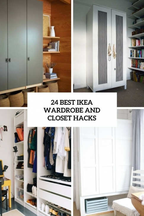 Image of 24 Best Ikea Wardrobe And Closet Hacks - Digsdigs Hemnes Closet Hack Image