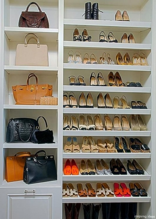 Image of 35 Genius Small Closet Ideas In 2019 | Closet Ideas | Closet Bedroom Shoe Storage Ideas For Small Closets Pics