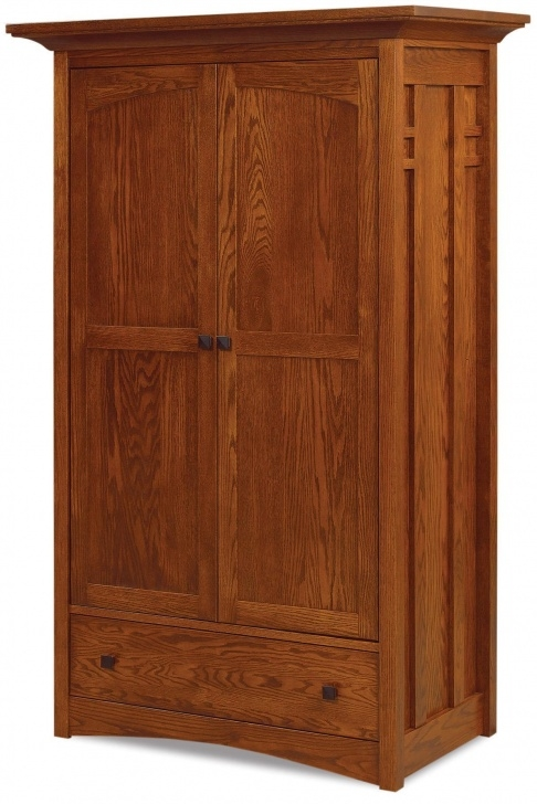 Image of Amish Kascade Wardrobe Armoire From Dutchcrafters Amish Furniture Amish Storage Closet Clothing Image