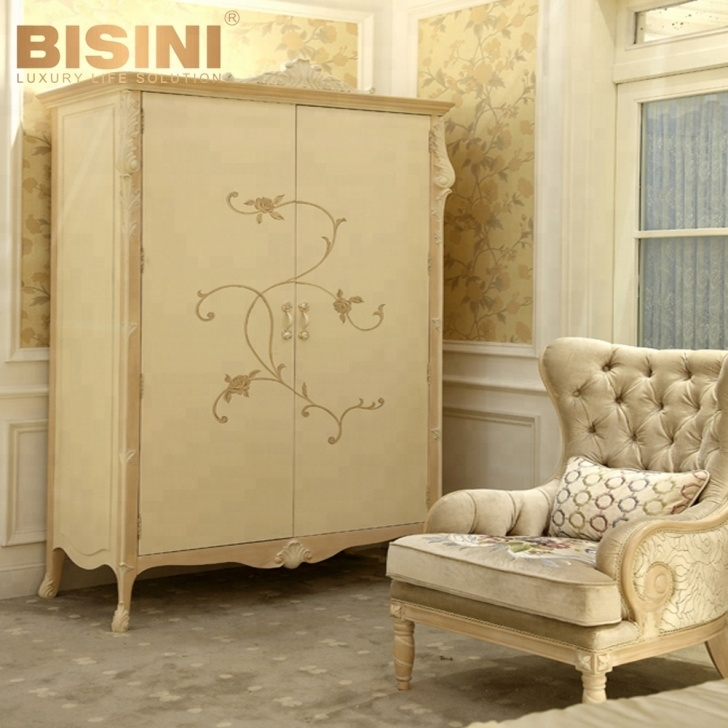 Image of Biisni French Style Hand Painted Design Fancy Wooden Children French Wardrobe Kids Picture