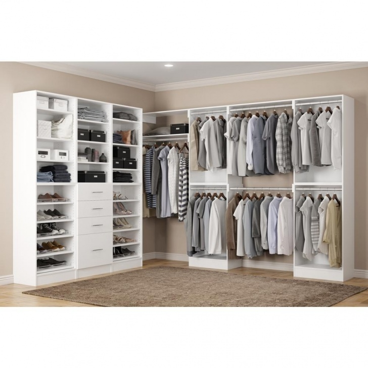 Image of Home Decorators Collection Calabria Walk In 15 In. D X 243 In. W X Walk In Closet Systems Photo