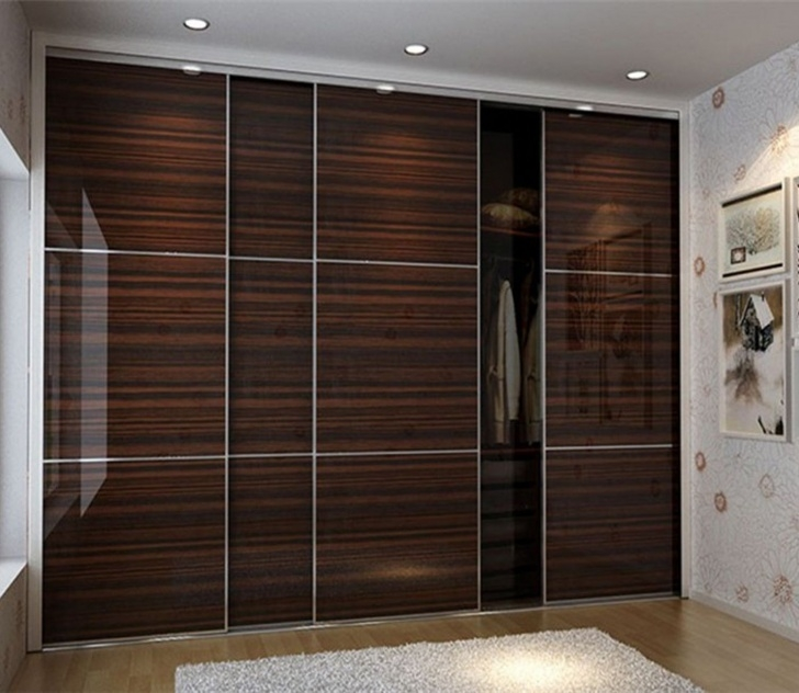 Image of Laminate Wardrobe Designs In Black Bedroom Furniture. This Chocolate Formica Wardrob Door Design Picture