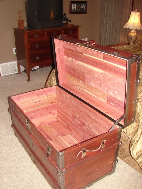 Image of Old Trunk I Refinished And Lined It With Closet Cedar Planks Steamer Trunk Wardrobe Ideas Picture