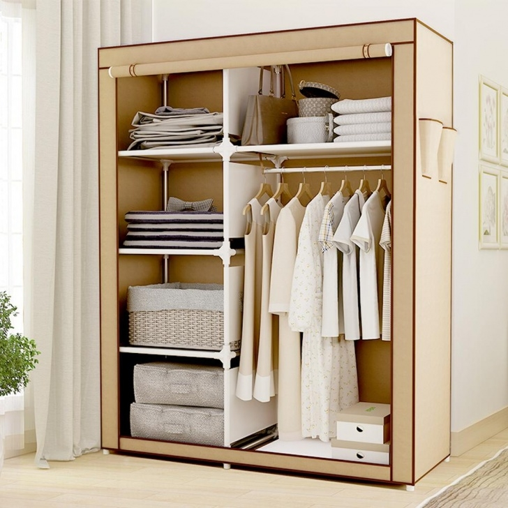 Inspirational 2019 Hhaini Portable Clothes Storage Closet, Double Wardrobe Portable Storage Closets Buy Bactroban Picture