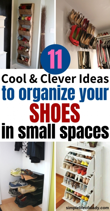 Inspirational 27 Cool & Clever Shoe Storage Ideas For Small Spaces | Organize Shoe Storage Ideas For Small Closets Picture