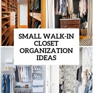 Inspirational 5 Small Walk-In Closet Organization Tips And 40 Ideas - Digsdigs Organize Small Walk In Closets Picture