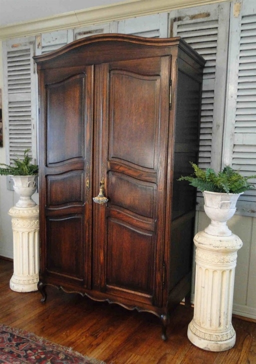 Inspirational Antique French Armoire Wardrobe Closet Dark Oak Fitted With Shelves Antique Wardrobe Closet Photo