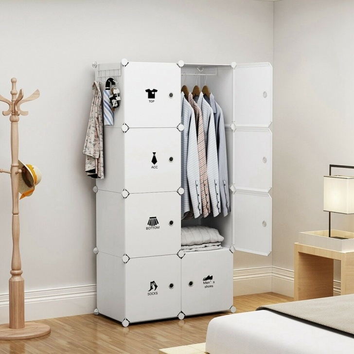 Inspirational Yozo Portable Wardrobe Plastic Modular Closet Storage Organizer White Portable Closet Image