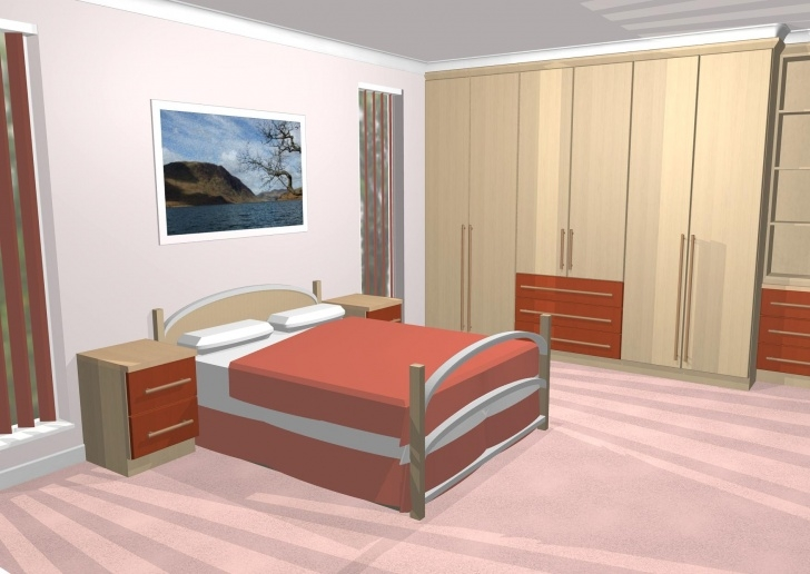 Inspiring Cad Gallery Of 3D Bedroom Images 3D Designs For Bedroom Wardrobes Image