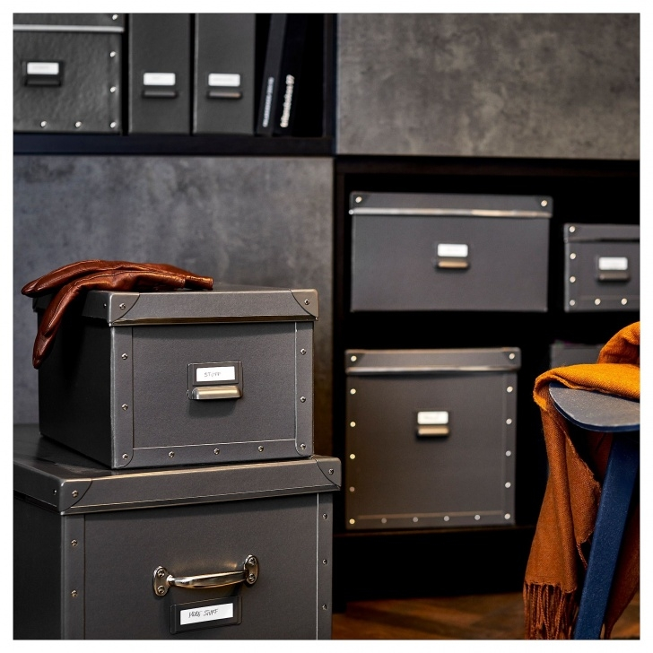 Inspiring Ikea - Fjälla Storage Box With Lid Dark Gray | Storage Boxes Closet Storage Boxes With Lids Picture