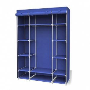 Inspiring Sunbeam 18 In. X 67 In. Navy Storage Closet Portable Wardrobe With Portable Storage Closets Buy Bactroban Pics