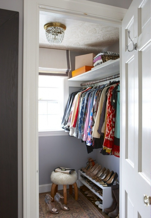 Marvelous 21 Best Small Walk-In Closet Storage Ideas For Bedrooms Very Small Walk In Closet Image