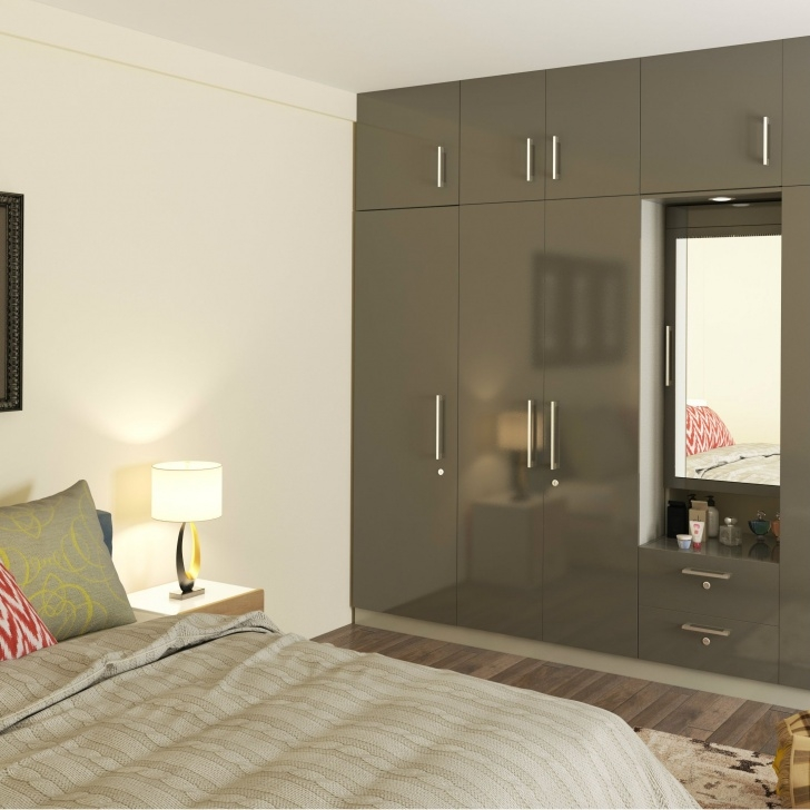 Marvelous A Handsome Wardrobe-Cum-Dressing Area For Your Bedroom | Modular Room Almari With Dressing