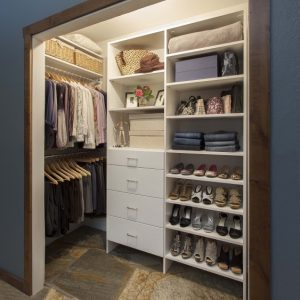 Marvelous Reach-In Closet With Hanging Rods On Side Walls | Bedroom @berkshire Deep Closet Ideas Photo