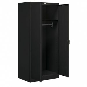 Marvelous Salsbury Industries 9100 Series 24 In. D X 36 In. W X 78 In. H Wardrobe  Storage Cabinet Assembled Steel Closet System In Black Storage Metal Closet Photo