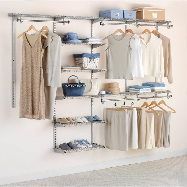 Marvelous Shop Rubbermaid Fg3H8900 Adjustable Wall Mounted Closet System With Closet Systems For Wall Pics