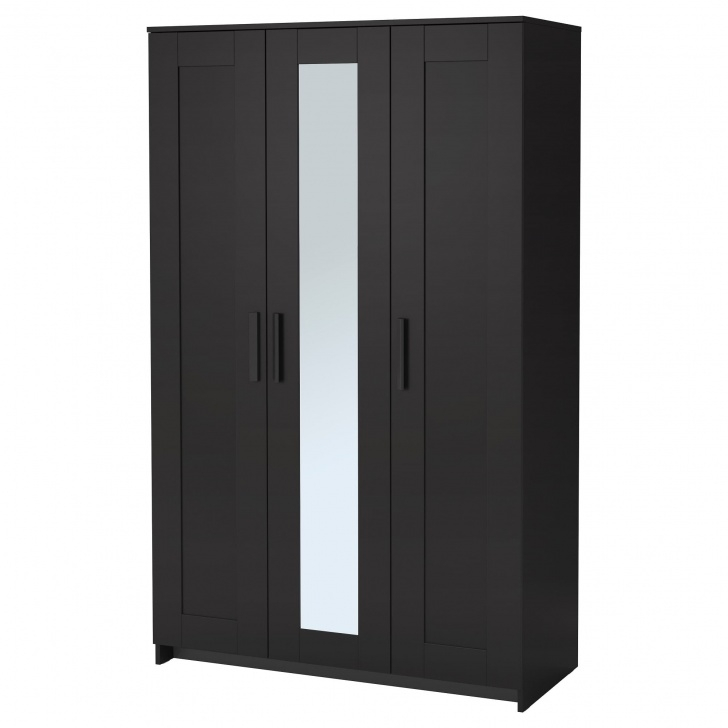 Outstanding Brimnes Wardrobe With 3 Doors - Black - Ikea 68 Wardrobe Closet Image