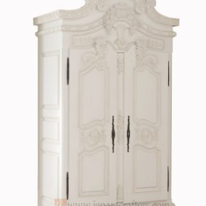 Outstanding Louis French White Furniture Armoire Wardrobe Indonesia Manufacturer White Carved Wardrobe Closet Pics