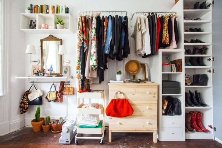 Picture of 21 Best Ikea Storage Hacks For Small Bedrooms Small Room Wardrobe Images Picture