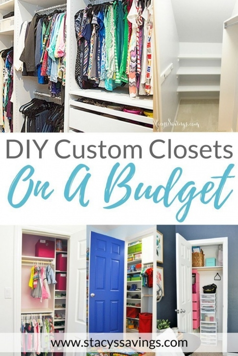 Picture of Builder To Custom - Diy Custom Closets On A Budget! | Home Diy Closet Organization Ideas On A Budget Image
