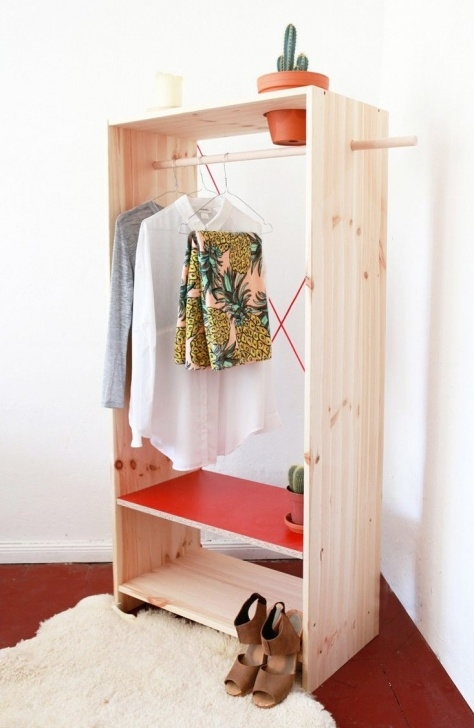 Picture of Diy: Portable Closet, Planter Included | Diy And Freebies | Diy Simple Small Movable Wardrobe Design Picture