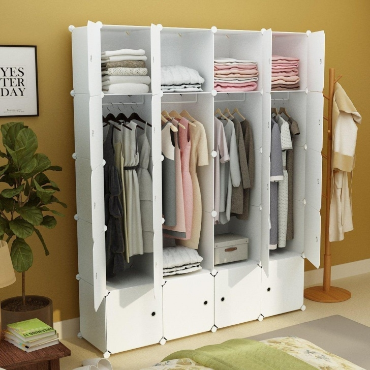 Remarkable 2019 Diy Portable Wardrobe Clothes Closet Modular Storage Organizer White Portable Closet Image
