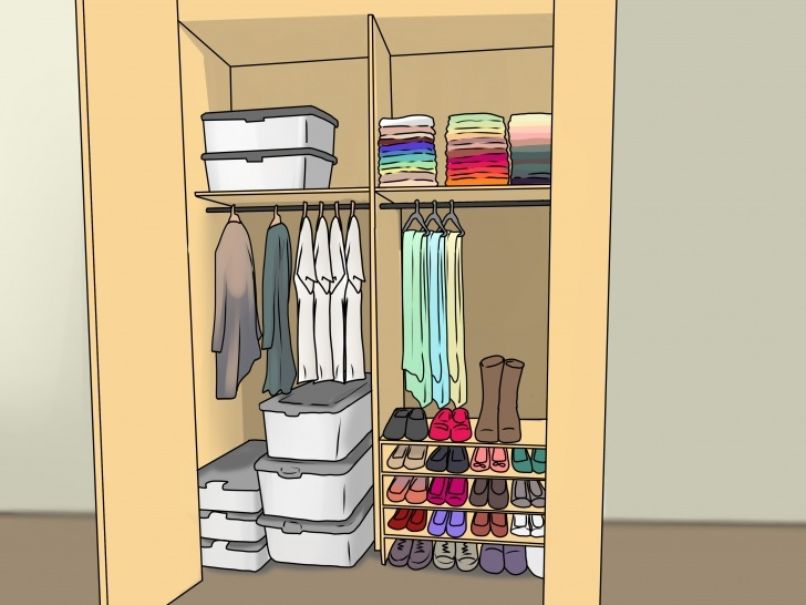 Remarkable How To Organize Your Closet: 12 Steps (With Pictures) - Wikihow Small Student Wardrobe Picture