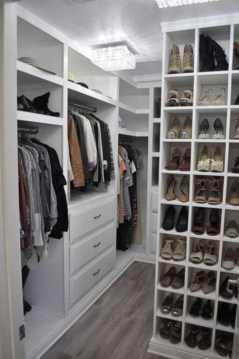 Remarkable Small Walk In Closet With Drawers - Small Walk In Closet Ideas Very Small Walk In Closet Photo