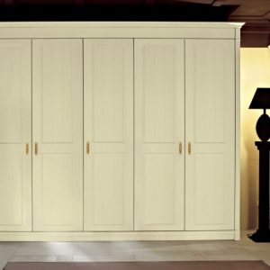 Splendid Best Furniture. Cream Wooden Free Standing Wardrobe With Six Doors Tall Standing Closet Photo