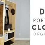 Splendid Diy Portable Closet Organizer - Youtube How To Make A Portable Wardrobe Photo