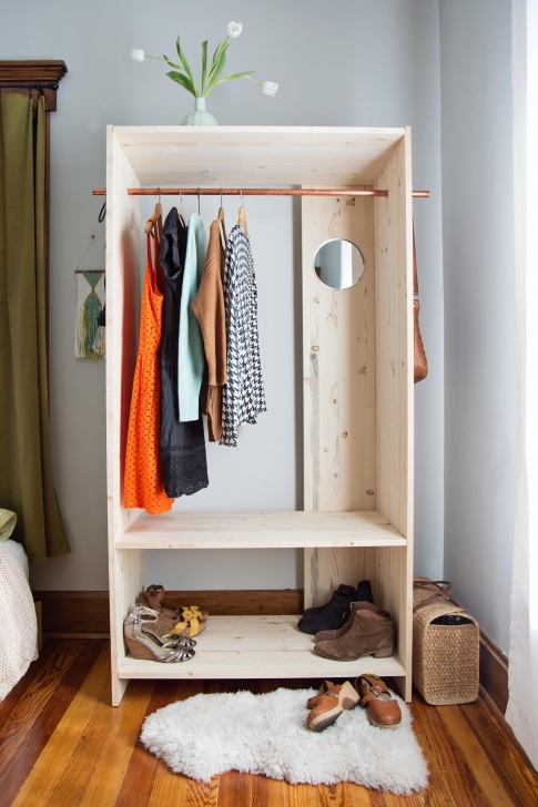 Splendid Modern Wooden Wardrobe Diy | Awesome Diys To Try | Diy Projects For Simple Small Movable Wardrobe Design Pics