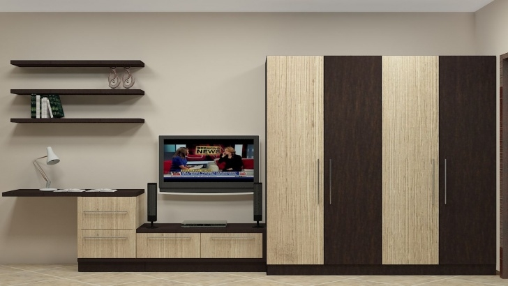 Splendid Modular Wardrobe Design For Indian Bedroom Having 4 Door Along With Formica Wardrob Door Design Pics