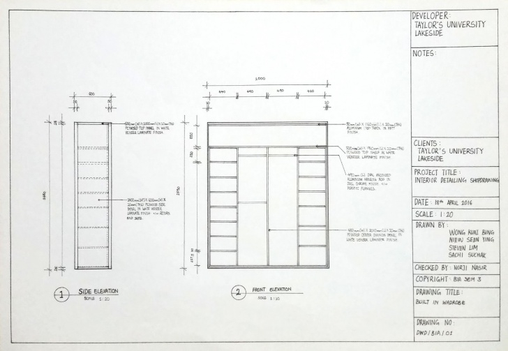 Splendid Wardrobe With Drawings At Paintingvalley | Explore Collection Of Sketch Of Built In Wardrobe Photo
