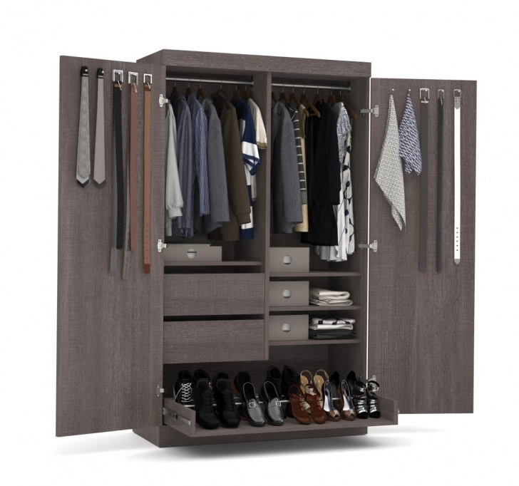 "Stunning Storage - 49"" Wardrobe With Pullout Shoe Rack 