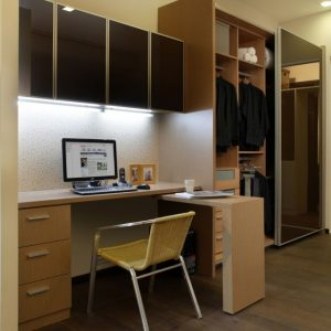 Stunning Study Table With Wall Cabinet & Wardrobe | Our Showroom In 2019 Wardrobe With Study Table Picture