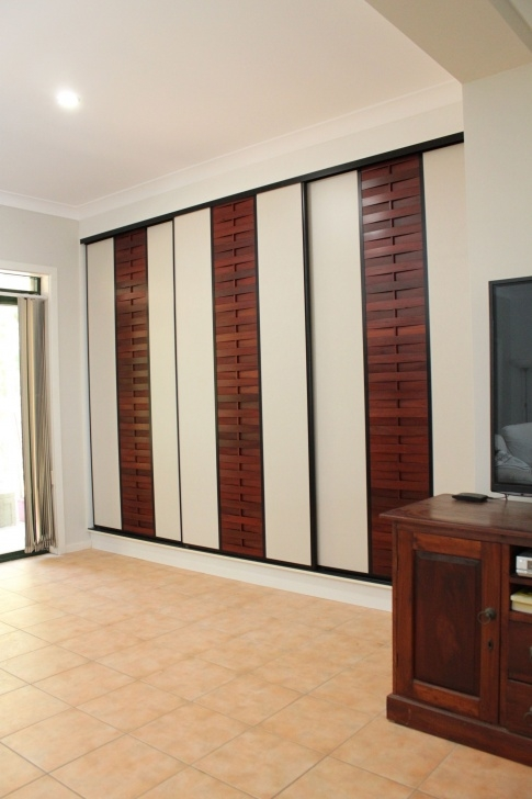Stylish Sukiya Sliding Doors With Formica Rock Salt Panel And Jarrah Slats Formica Wardrob Door Design Picture