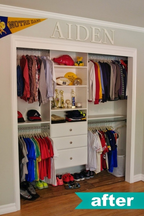 Stylish Thank Heavens For Little Boys.and Their Organized Closets! Love Kids Wardrobe Closet Pinterest Pics