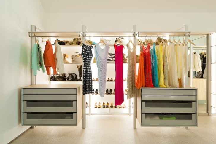 Stylish Walk In Closets And Open Wardrobe Systems Custom-Made Open Closet Systems Image