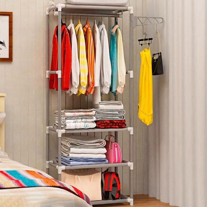 Stylish Wardrobe For Sale - Wardrobe Closet Prices, Brands & Review In Simple Small Movable Wardrobe Design Photo