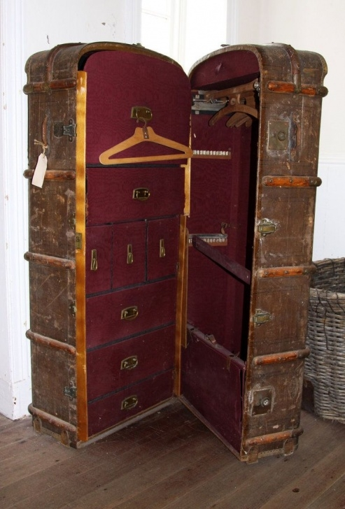 Wonderful Dieselsteamgypsy | Craft Ideas | Trunks, Chests, Vintage Suitcases Steamer Trunk Wardrobe Ideas Pics